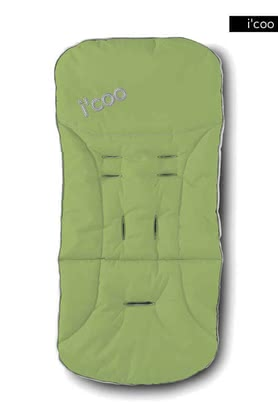 icoo 2 way seatpad for Pluto 2011, Lime - 大图像