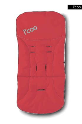 icoo 2 way seatpad for Pluto 2011, Red - 大图像
