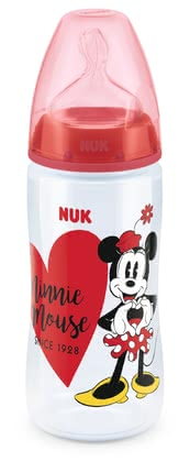NUK Disney Mickey FIRST CHOICE+婴儿奶瓶,300毫升 rot 2019 - 大图像