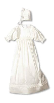 "Leipold christening gown ""Gracia"" incl. bonnet - 大图像"