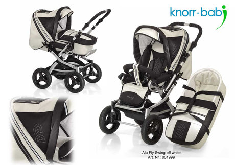 Knorr pushchair Alu Fly Swing 2012 999-offwhite - 大图像