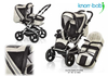 Knorr pushchair Alu Fly Swing 2012 999-offwhite - 大图像 1