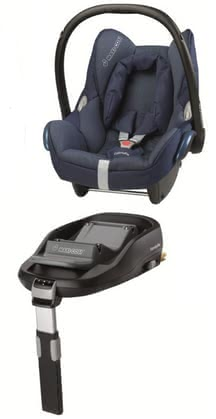 Maxi-Cosi Cabriofix 带底座 FamilyFix Dress Blue 2013 - 大图像