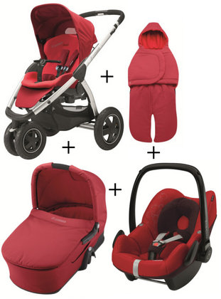 Maxi Cosi Mura 3 2012 Comfort Set (carrycot + footmuff) Intense red - 大图像