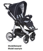 Teutonia Pushchair Cosmo Made for You 4800_Gala Black 2013 - 大图像 2