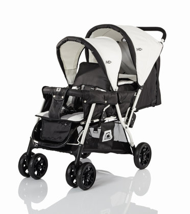 Babywelt Moon Tandem + carrycot Black Stripes 2013 - 大图像