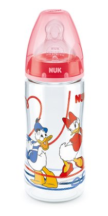 NUK Disney Donald FIRST CHOICE+ Babyflasche, 300 毫升奶瓶 rot 2015 - 大图像