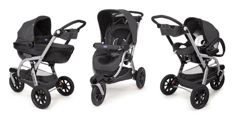 Chicco Travel-System Trio Activ 3推车 Anthracite 2014 - 大图像