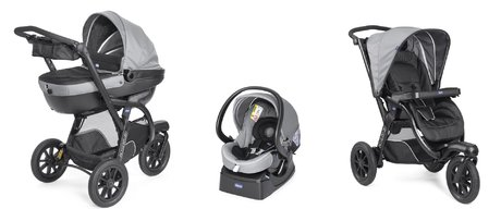 Chicco Travel-System Trio Activ 3推车 Dark Grey 2018 - 大图像