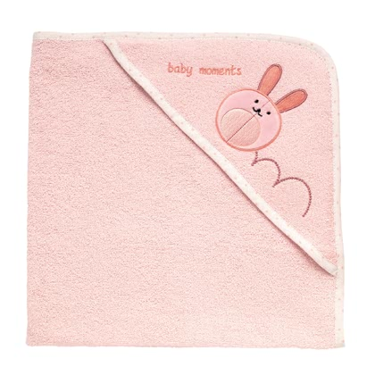Chicco Microfiber terry hooded towel - pink rabbit 2016 - 大图像