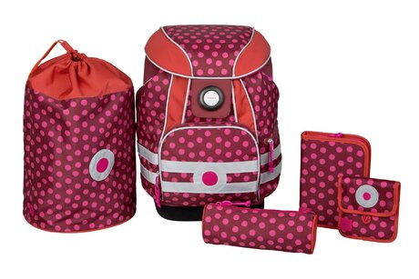 Lässig School satchel set Dottie Red 2016 - 大图像
