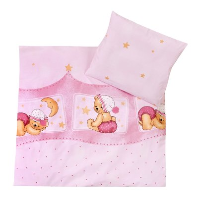 Zöllner 2-piece bedding set Cuddly Bear, pink 2016 - 大图像