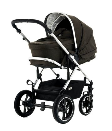 Moon Multi-Functional Pram Lusso including Carrycot brown - fishbone 2018 - 大图像