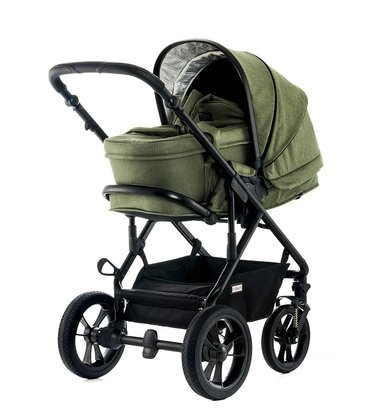 Moon Multi-Functional Pram Lusso including Carrycot olive - fishbone 2018 - 大图像