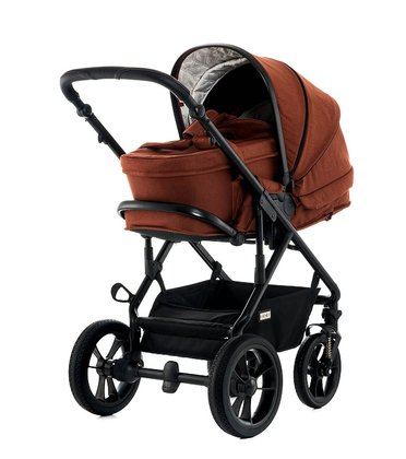 Moon Multi-Functional Pram Lusso including Carrycot ginger - fishbone 2018 - 大图像