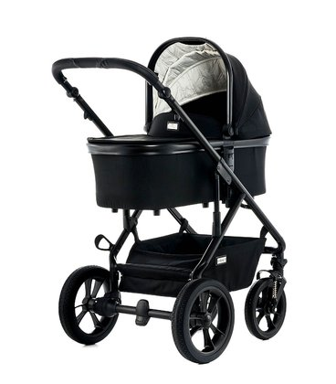 Moon Multi-Functional Stroller Nuova with Aluminium-Carrycot black - fishbone 2018 - 大图像