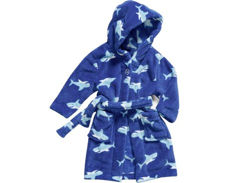 Playshoes Fleece-Bademantel Hai in blau 2016 - 大图像