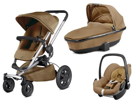 Quinny Buzz Xtra inkl. Kinderwagenaufsatz + Maxi Cosi Pebble Toffee Crush 2016 - 大图像