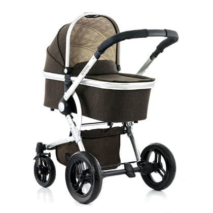 Moon multi-functional stroller Cool with aluminium carrycot brown - melange 2017 - 大图像