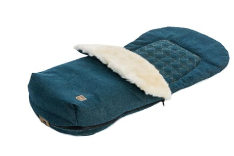 Moon Footmuff with fur insert jeans 2017 - 大图像