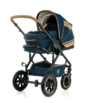 Moon Multi-Functional Stroller Lusso Denim Special with Carrycot 2017 - 大图像