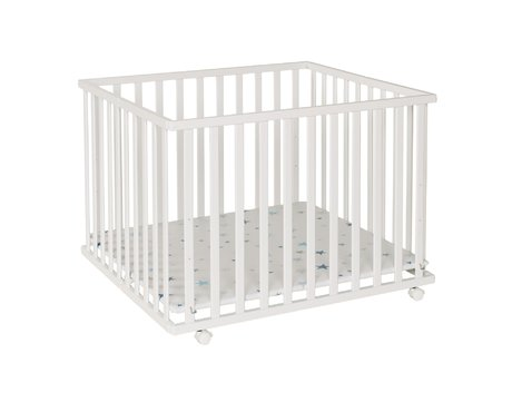 Geuther Playpen Leela, 94 x 102,5 cm weiß Stern 2017 - 大图像