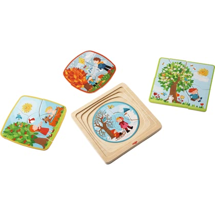 "HABA Wooden Puzzle ""My Time of Year"" - 大图像"