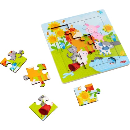 "HABA Wooden Puzzle ""Animal Friends"" - 大图像"